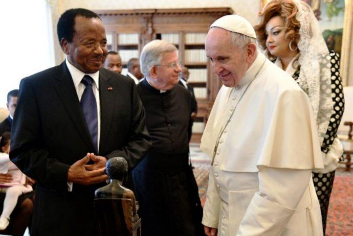 Rencontre entre Paul Biya et le Pape François