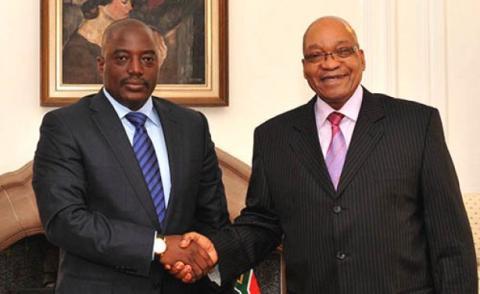 En visite en RDC, Jacob Zuma soutient le calendrier électoral du régime