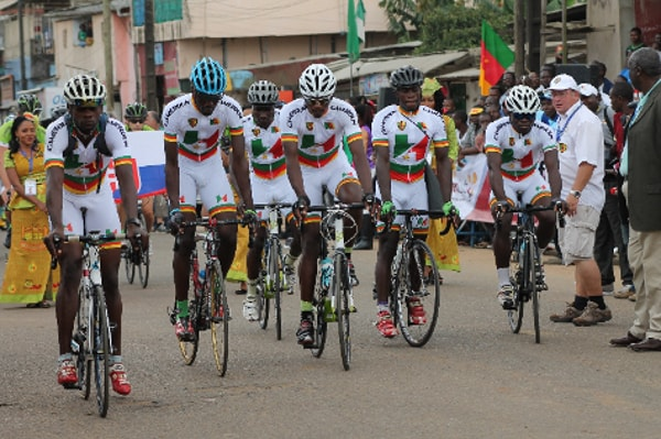 En route pour le Tour cycliste du Cameroun