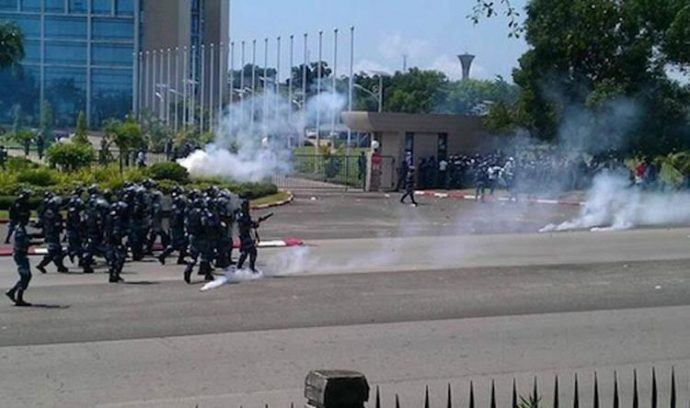 Gabon : dispersion des manifestants du 1er mai