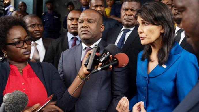 RDC : Nikki Haley veut des élections en 2018