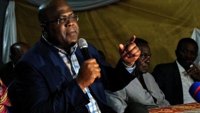 RDC : premier meeting pour Félix Tshisekedi