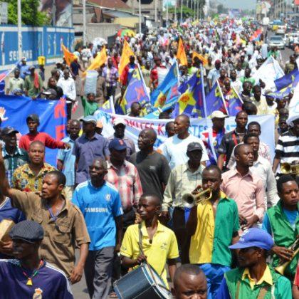 Démonstration de force des oppositions congolaises