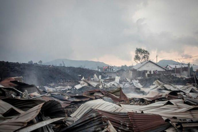 L'éruption du volcan qui a surpris la ville de Goma en République démocratique du Congo